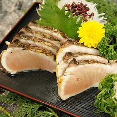 料理メニュー写真日替わりで鮮魚刺身・カルパッチョ各種ございます。