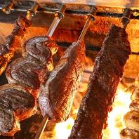 新鮮なお肉をじっくり炭火で焼き上げる!