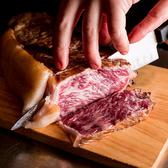 自慢のステーキはお好みの部位とグラムを選んでオーダー!