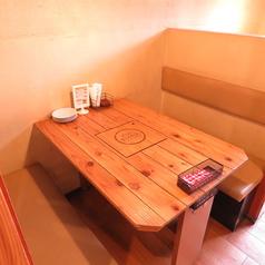広々ご利用いただけるソファータイプのテーブル席です。最大4名様までご利用OK♪女子会、ママ会、デートなどに!