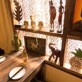 濃い木目調の落ち着いた個室内に温かみのある間接照明で、ゲストの皆様にもゆったりとご歓談いただける空間を演出しております♪ぜひ、秋葉原での飲み会や女子会、合コンや接待などにご活用下さいませ♪