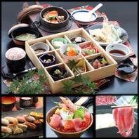 刺身・寿司・御膳・しゃぶしゃぶ等幅広いメニューが自慢