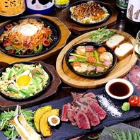 ステーキはもちろん、アヒージョなど熱々料理多彩