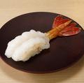 料理メニュー写真天然ぼたん海老の握り(一貫)