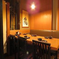 テーブル個室は寛ぎ空間