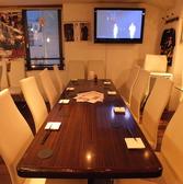 8名様から12名様くらいのお客様にはここを…超ロングテーブルで高級感を!お金持ちの家のダイニングテーブルみたいですね笑宴会をやるときにこのくらいの人数ならここでしょって感じの席です。
