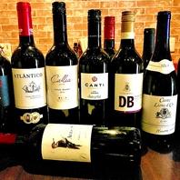鉄板料理と合わせて♪ワインも豊富にご用意しております