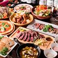 コース料理は飲み放題付き6品3000円~ご用意♪メインはもちろんステーキ!