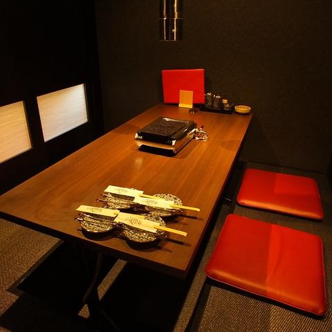 プライベート空間がしっかり整えられた完全個室です。個室チャージ料1500円がかかります。予めご了承ください。