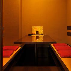 大人気!完全個室の掘りごたつお席。接待など大切な飲み会時によくご利用されています( ´ ▽ ` )