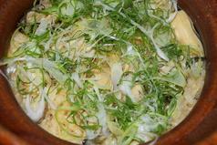 かきと九条ネギの土鍋御飯
