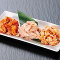 料理メニュー写真鶏セセリ3種盛り(赤・塩・味噌)