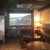 【プロジェクター完備】迫力の100インチスクリーンで、お祝い・記念日ムービーやスポーツ観戦をお楽しみ頂けます!動画はお持ち込みも可能です◎