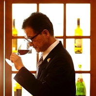 ワインエキスパートの資格を持つオーナー厳選のワイン