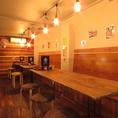 【ボックス席】店舗奥に位置するこちらのテーブル席はしっかりとした腰壁があり、プライベート感のある居心地抜群のお席です♪繋げて15名様までのご宴会にも◎