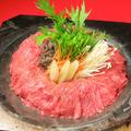 料理メニュー写真<すき焼き鉄板>和牛すき焼き