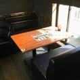 ソフトソファー席も完備!!50インチ以上もモニターも完備しておりましので、お好きなDVDを鑑賞しながらお食事も楽しめます♪DVD持ち込も可♪