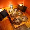 雰囲気あるお洒落な「テーブル個室席」