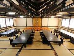 ≪2F≫最大宴会60名様までOK!20名様から貸切も。会社宴会、結婚式2次会など大宴会もご利用ください。お席の配置などお気軽にお問い合わせください。