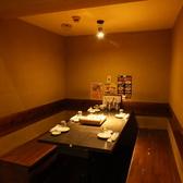 4名様~6名様【半個室】オープンフロアの一画に設けた半個室。オープンな雰囲気の中で楽しみつつ、個室の安心感も得られるお席です☆