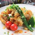 料理メニュー写真若鶏の天ぷら スイートチリソース