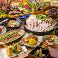 鮮度にこだわった九州食材をたっぷり使用!獲れたて食材の旨みを余すことなく味わえる当店自慢の逸品料理をご堪能ください。当店自慢のしゃぶしゃぶ鍋付きコースやご宴会にもおすすめの飲み放題付コースを各種ご用意致しております。