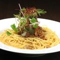 料理メニュー写真担々麺風クリームパスタ