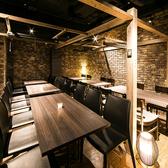 バル独特の楽しい空間のお席はラインナップを豊富に用意!広々とした空間の中、厳選したバルメニューと数々のお酒と共に楽しい一時をお過ごしください♪