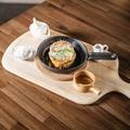 料理メニュー写真あつあつ鉄板deフレンチトースト