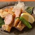料理メニュー写真丹波銘柄鶏 黒胡麻胡椒焼き