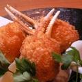 料理メニュー写真ずわい蟹爪フライ(3ヶ)
