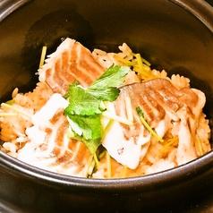 土鍋で炊いた鯛めし(吸物・香物)