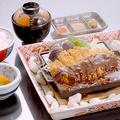 料理メニュー写真味噌かつ定食 (上州麦豚ミルフィーユかつ使用)