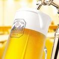 生ビールも飲み放題!ドリンクもしっかり楽しみたいなら、飲み放題がおすすめ!喉越しがたまらないビール好きにはたまらない生ビール飲み放題で楽しめます◎
