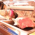仕入れたお肉は適度な大きさに切られた後真空パック。旨さと鮮度を保ちます。