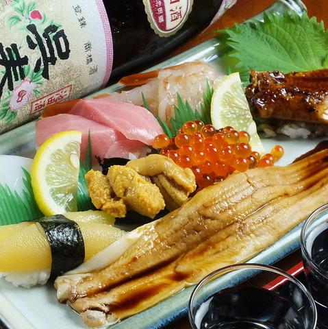 驚くほど大きいお寿司が自慢の居酒屋!!