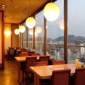 姫路の町が一望できる窓際テーブル♪お子様も喜ぶ新幹線もご覧いただけます!