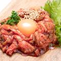 料理メニュー写真ローストビーフのユッケ