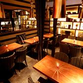 24名様までおすわりいただける半個室スペース。アンティーク調の落ち着いた雰囲気です♪会社等のある程度の集まりにおすすめです写真上ではテーブルが分かれていますが、ある程度、お客様のご要望にあった配置にすることができます