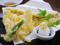 野菜とアナゴの天ぷら