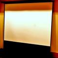スクリーン(SANWA PRS-Y80)(お店貸切の場合のみ利用可、事前にご依頼下さい。)