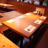 掘りごたつのお席は4名様~人数に合わせてご用意が出来ます。お席の間隔も離れておりますので、ゆっくりとお食事をお楽しみいただけます。
