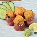 料理メニュー写真ウニの肉巻き