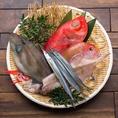 市場から毎日直送の淡路産鮮魚