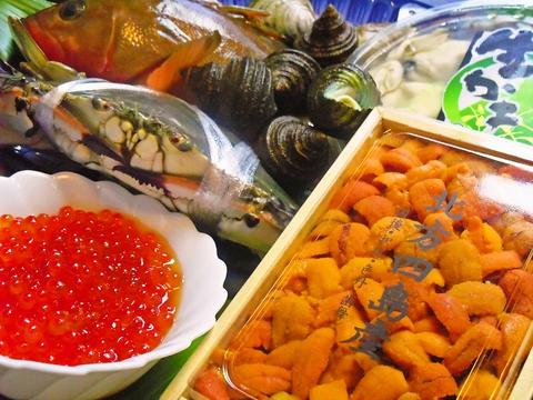 その日に採れた魚を市場から仕入れている。新鮮な魚貝類が食べられるお店。