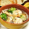 料理メニュー写真海老のアヒージョ/ベビー帆立のアヒージョ