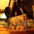 フラメンコの流れる店内・本場スペインのインテリアの数々・・・