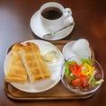 【お得なモーニング】350円~ドリンク付きでお得なモーニングセットが人気です。通勤前や、朝食にぜひ。