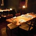 テーブル席 6名×2卓 ドンリンクバーへは一番近いお席!