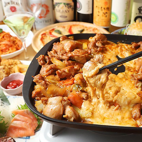 【3H飲み食べ放題付】チーズタッカルビ&肉盛りプレート全9品『肉×チーズ堪能』コース〜4,000円